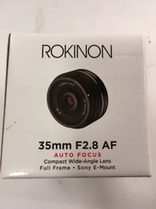 Rokinon 35mm F2.8 AF Compact Full Frame Lens Sony E Mount