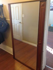 ****Large Solid Wood Dresser Mirror****