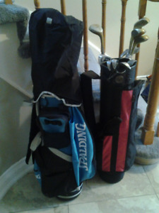 2 golf bag and clubs in very good condition