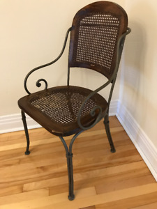 WICKER WROUGHT IRON CHAIR