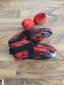 Martial Arts Sparring Boots and Hand Wraps