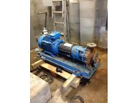 Pumping equipment ,pumps actuator valves , stainless pipe .