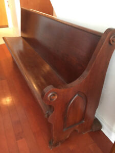 Church pew- solid wood bench