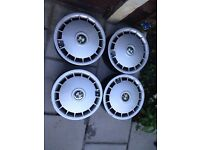 BMW E30 steel wheels and hubcaps