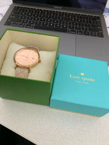 Rose Gold Kate Spade Watch Leather Band - Original Box+Booklet