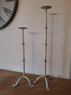 2 anciens grands pique-cierges - Antique large candlesticks