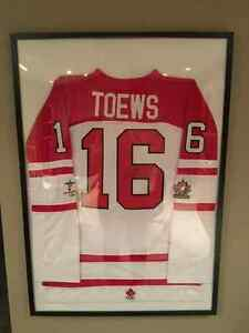 Signed Jonathan Toews Jersey (2010 Olympic Team Canada) London Ontario image 1