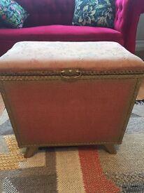 Vintage storage box/stool/ottoman