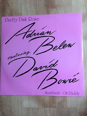 "Adrian Belew & David Bowie - Pretty Pink Rose - Rare 3 Track 12"" - A7904T"