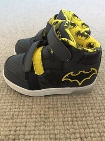 Batman trainers. Brand new and unworn. Excellent quality. Light up heel!