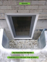 FIRE ESCAPE TILT & TURN -ONE HAND OPENING  BASEMENT WINDOWS
