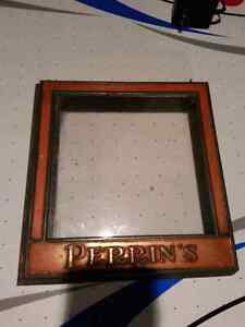 Vintage Perrin's Glass Candy Cover. Rare find.  519-870-2692 London Ontario image 1