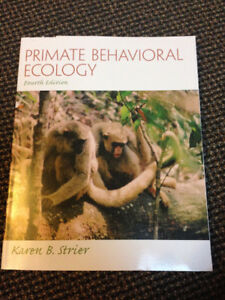 Primate Behavioural Ecology, 4th Ed.