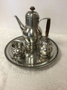 Stainless Coffee Set -- FROM PAST TIMES Antiques - 1178 Albert