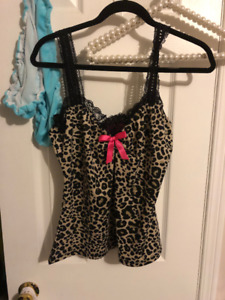 SEXY Leopard tank top NEW!!! RETRO PIN UP STYLE :) XL