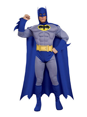 Adult Official Batman Muscle Chest Fancy Dress Costume Superhero Classic BN](Official Superhero Costumes)