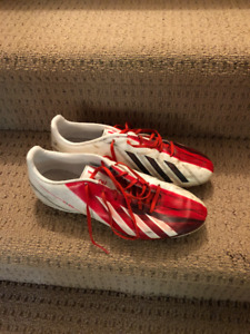 Adidas. Messi f10 cleats. white/red. Mens 9.5
