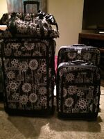 American tourister floral luggage
