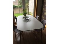Ikea White Gloss Dining Table 180 X 100cm