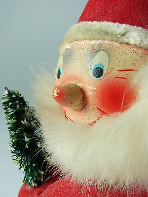 ANTIQUE PAPER MACHE' SANTA CANDY CONTAINER -  Western Germany - Early Post War