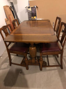 Antique dining suite 1920's Blonde Oak
