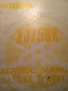 1983 Yamaha XJ750K Service Manual
