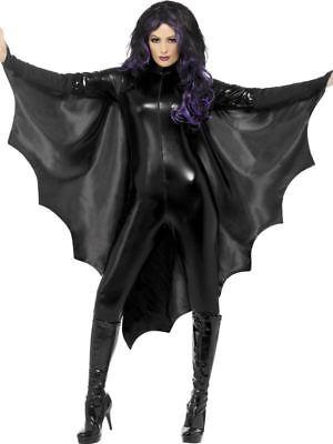 rmausflügel Ärmel Umhang Damen Erwachsene Halloween Kostüm (Schwarz Flügel Halloween-kostüme)