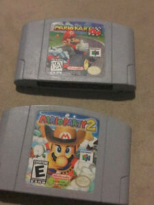 **MARIOKART 64 & MARIO PARTY 2)