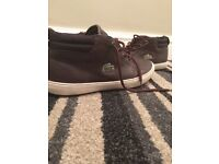 Brown Lacoste shoes