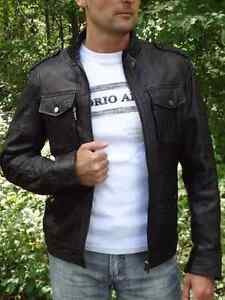 Genuine Leather Lambskin Jacket, Size S, brand new with tags Cambridge Kitchener Area image 1