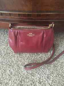 Red leather Coach purse Windsor Region Ontario image 1