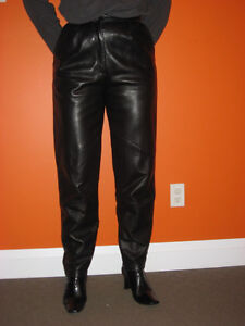 Leather & Suede Pants - Ladies - size 10