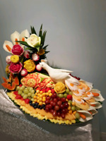 Edible gift, fruit carving pltter, fruit carving