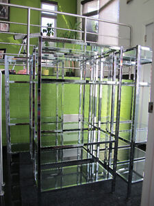 Glass and Chrome Shelf – 4 TIER (6 SOLD 1 AVAILABLE)