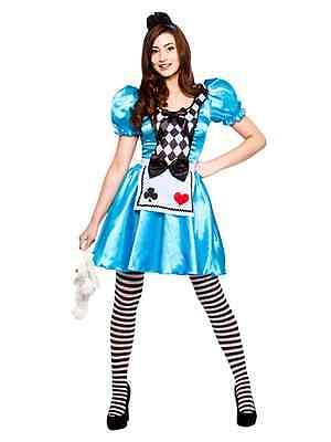 Ladies Storybook Alice in Wonderland Adult Womens Fancy Dress Costume Book - Storybook Alice Kostüm
