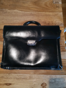 Sac/Serviette/porte document/ Messenger bag cuir/leather MANCINI