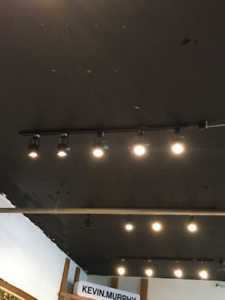 BLACK TRACK LIGHTING WITH NEW LEDS
