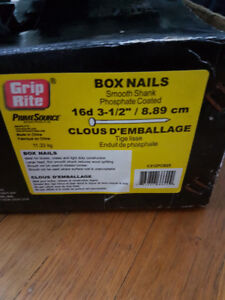 "3-1/2"" 16D NAILS: SMOOTH SHANK PHOSPHATE COATED"
