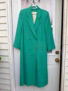 Ladies long coat-pure virgin wool-perfect for fall or spring