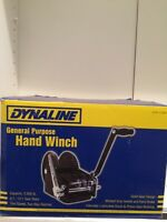 DYNALINE-hand winch (2500 lbs cap.) NEW IN THE BOX