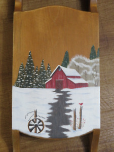 Hand Tole Painted Sled