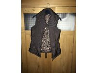 Immaculate small brown gilet