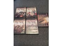 Collection of Rome DVDs - History Channel including ancient mysteries DVD