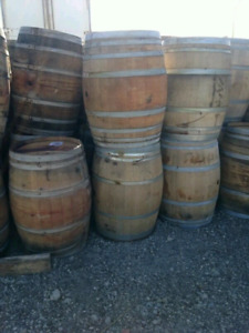 Wine barrels and whisky staves.