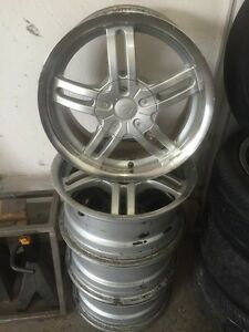 Chrome fast rims 4x114.3 and 5x110 bolt pattern