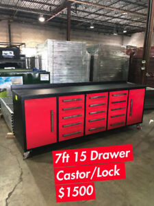 Heavy Duty 5ft - 10ft Red Tool Benches (6 models available)