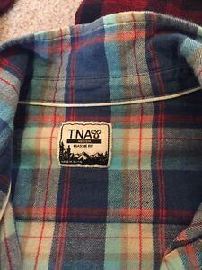 3 TNA plaid shirts Prince George British Columbia image 4