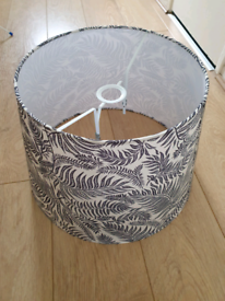 Large black/beige leaf IKEA lampshade - New