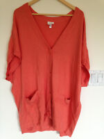 High end plus size Chico's peach batwing knit top