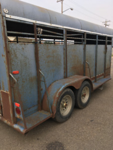 Waldner  goose neck stock trailer